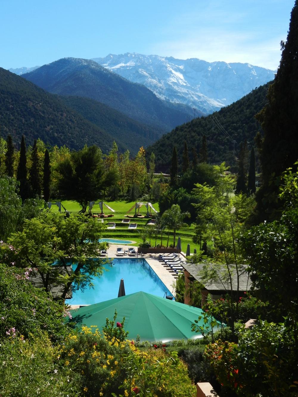 Kasbah Tamadot pool view.JPG