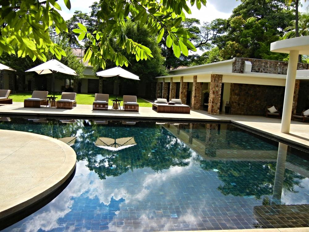 The pool at the Amansara, Siem Reap