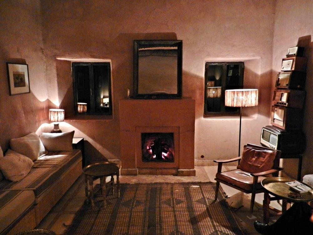 A sitting room at Kasbah Bab Ourika, Morocco
