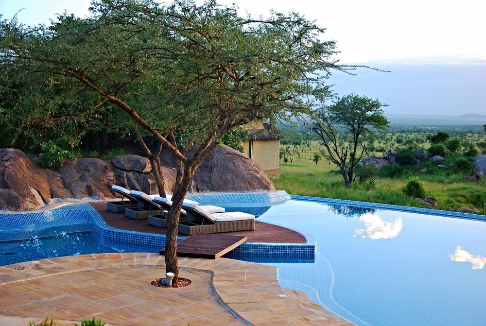 Poolside at the Four Seasons Serengeti, Tanzania.
