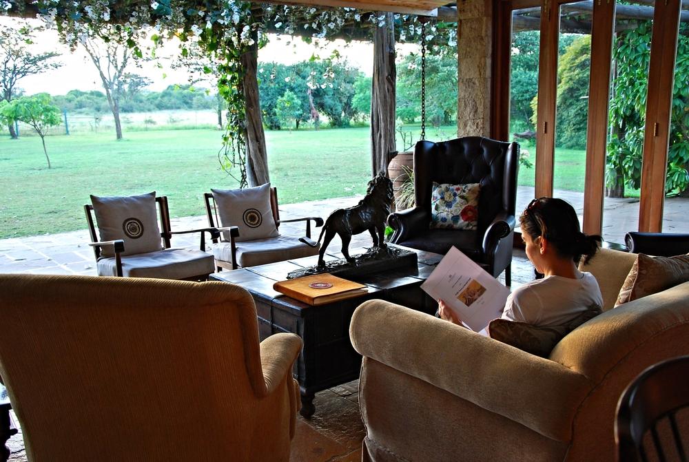 The sitting room at Hogmead, Nairobi.