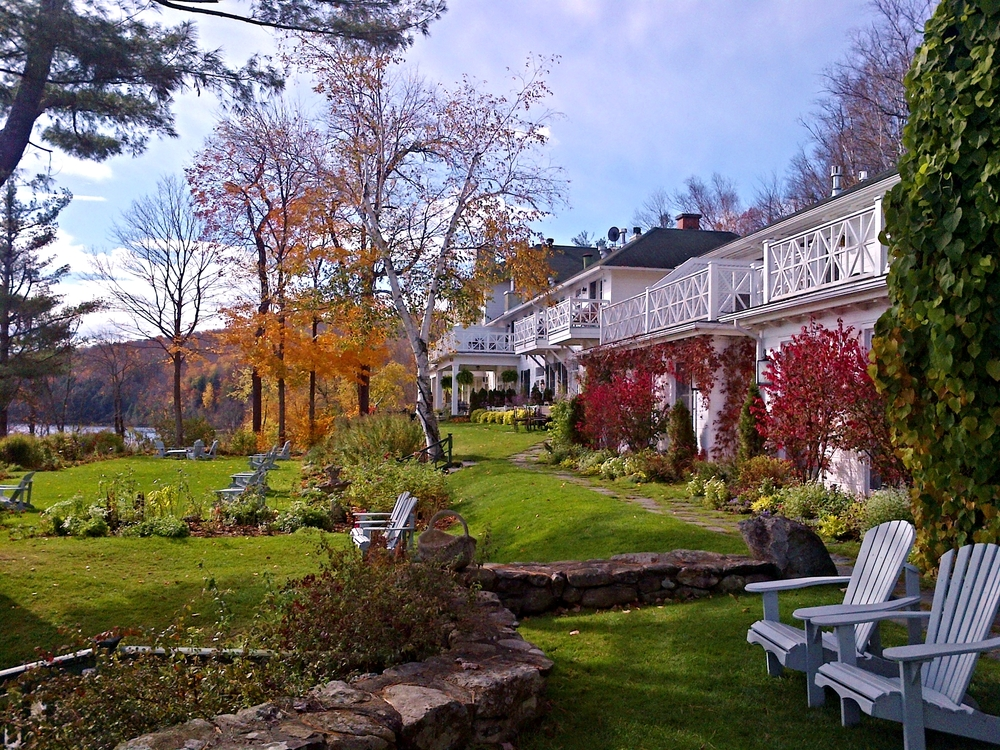 The gardens at Manoir Hovey, North Hatley, Quebec