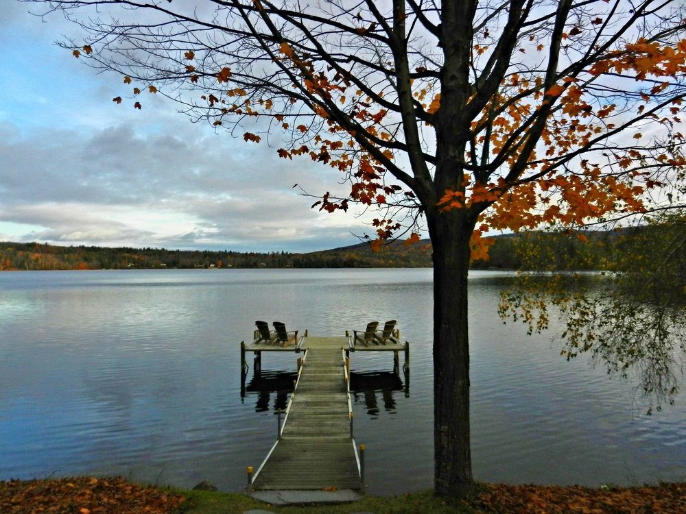 The dock at the Ripplecove Inn, Lake Massawippi, Quebec