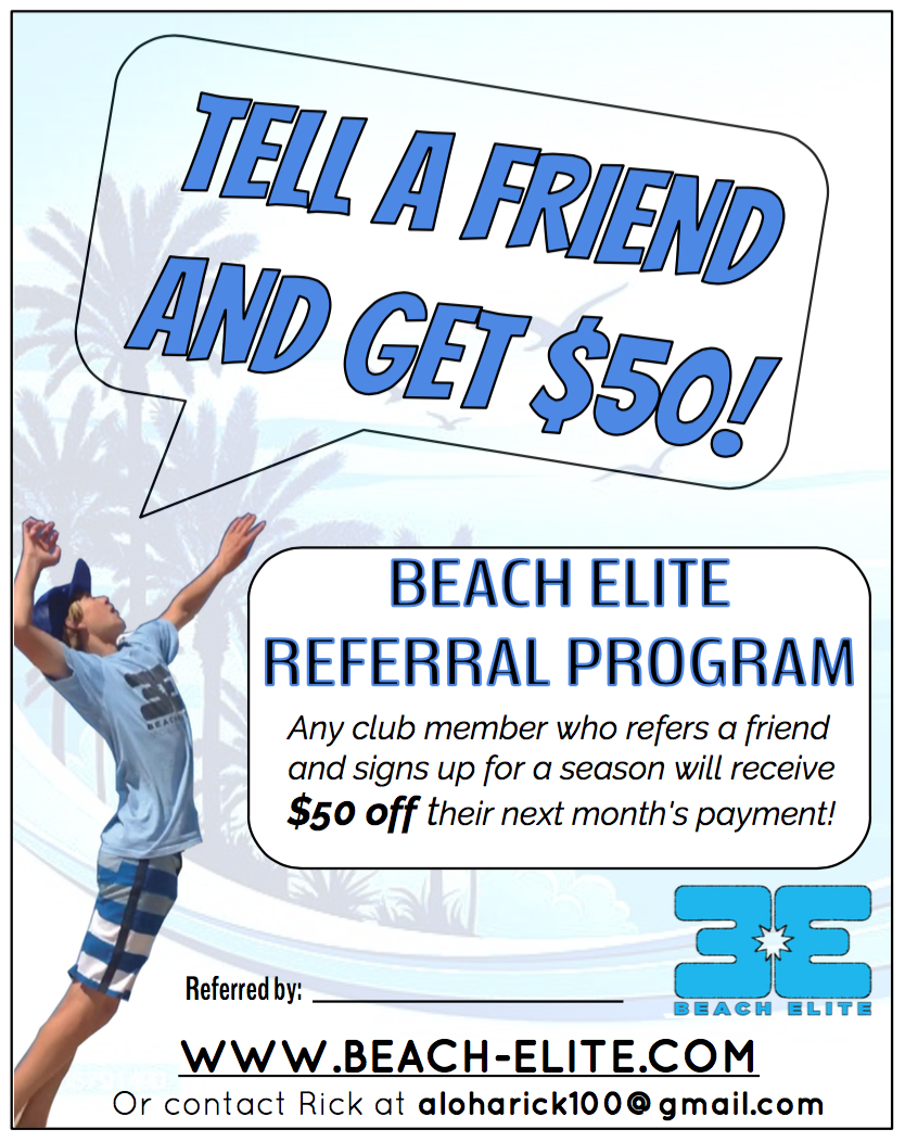 beach elite referral program