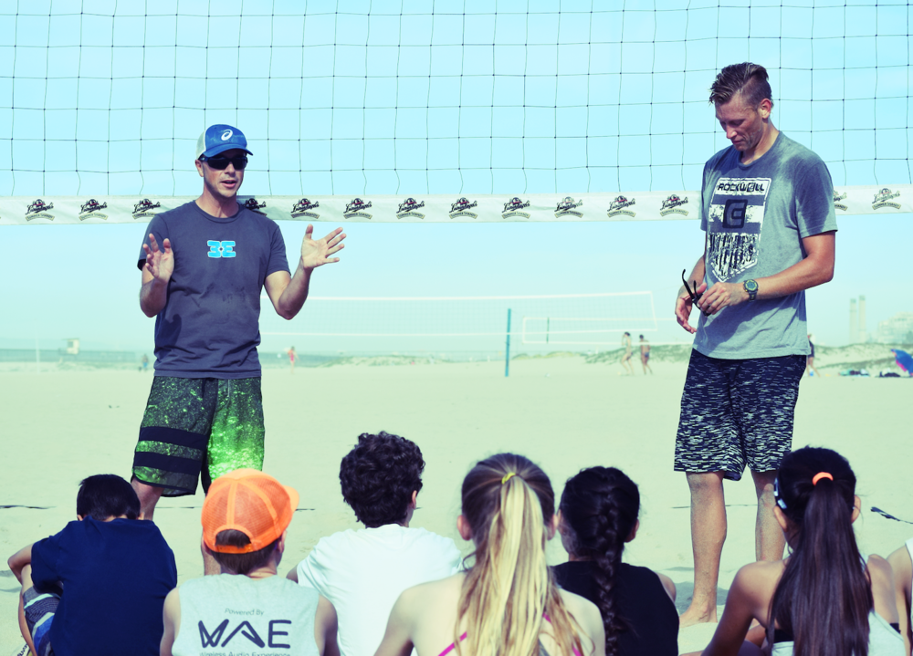 Rick Reeve,  Beach Elite Directo r and Casey Patterson,  2016 Rio Olympics