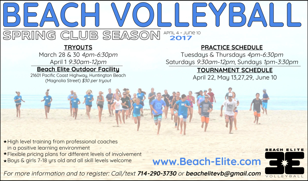 beach elite spring 2017 flier