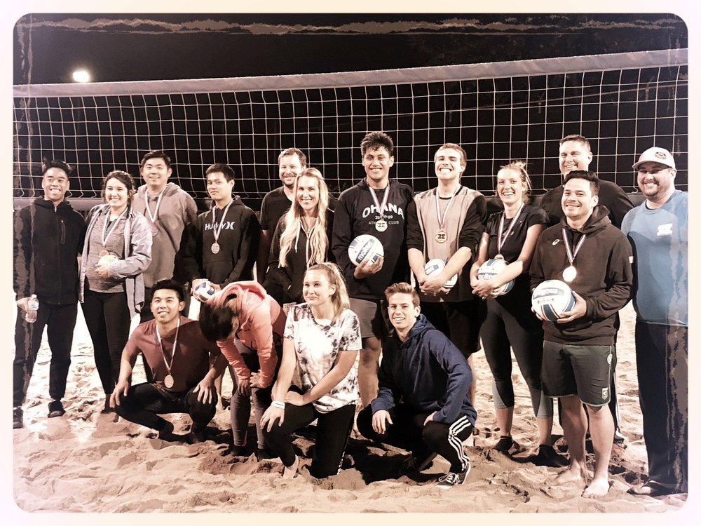night court beach volleyball league