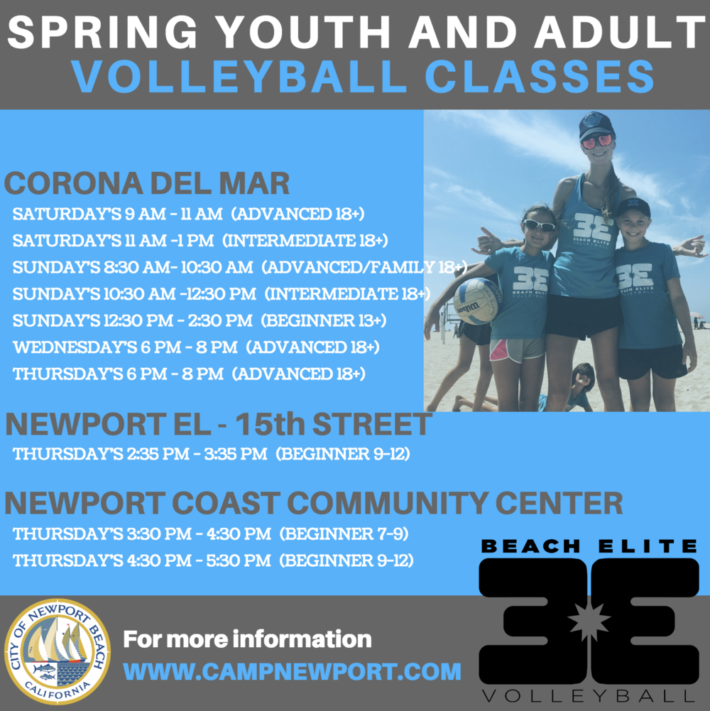 NEWPORT BEACH CLASSES -