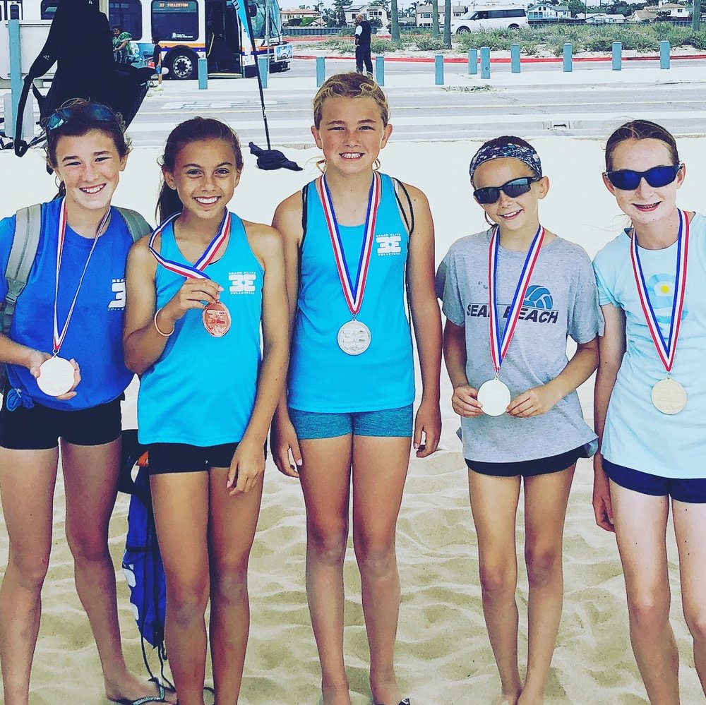 NEWPORT BEACH 15th STREET VOLLEYBALL CAMPS - Days: Monday-FridayTime: 9am-12pmCost: $156/weekRegister: www.CampNewport.com (Codes: BEV201- BEV208)Description: Come learn the basics of beach volleyball with the fun and friendly coaches of Beach Elite! We're determined to improve your child's ability to bump, set, serve & hit. No class July 4. Optional swimming for last half hour of class. All campers received a Beach Elite shirt, visor and backpack.Dates: July 1-5, July 15-19, July 29 - Aug 2, Aug 12-16