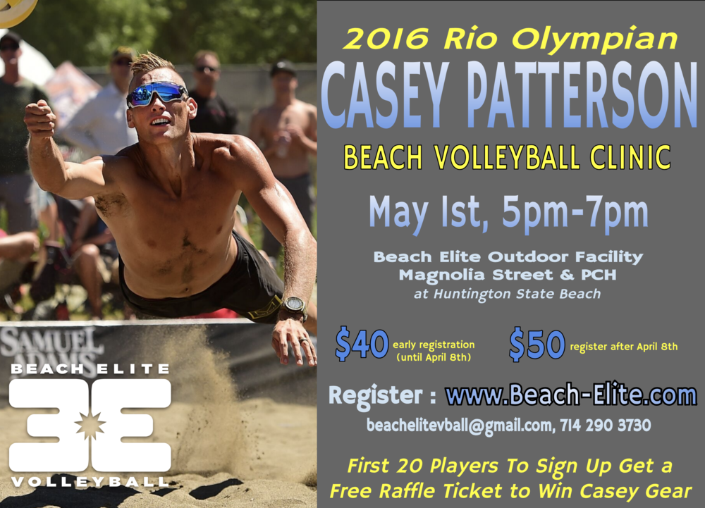 Casey Patterson Beach Clinic - May 1 -