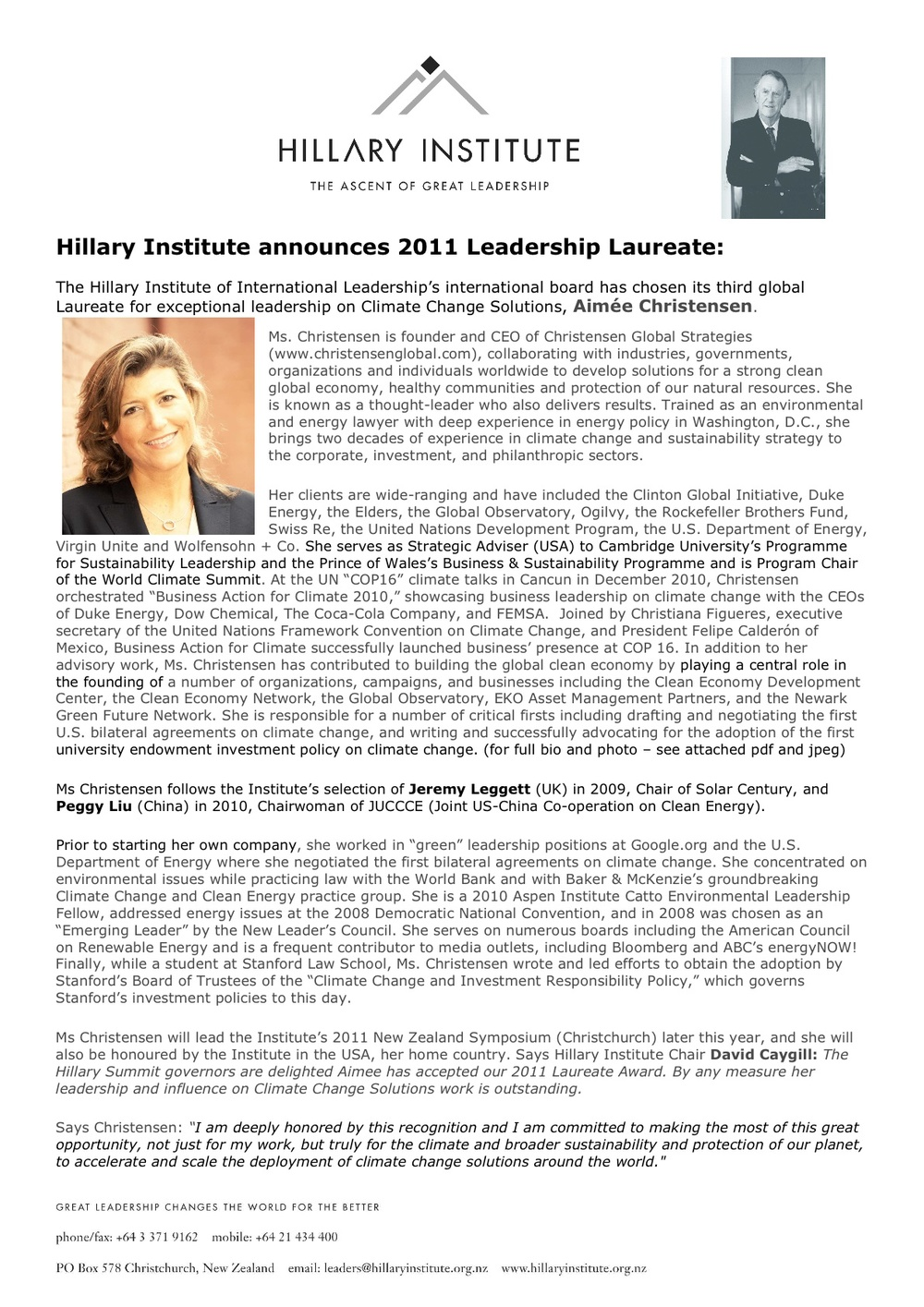 Hillary Institute Global Laureate Press Release - 2011 final.jpg