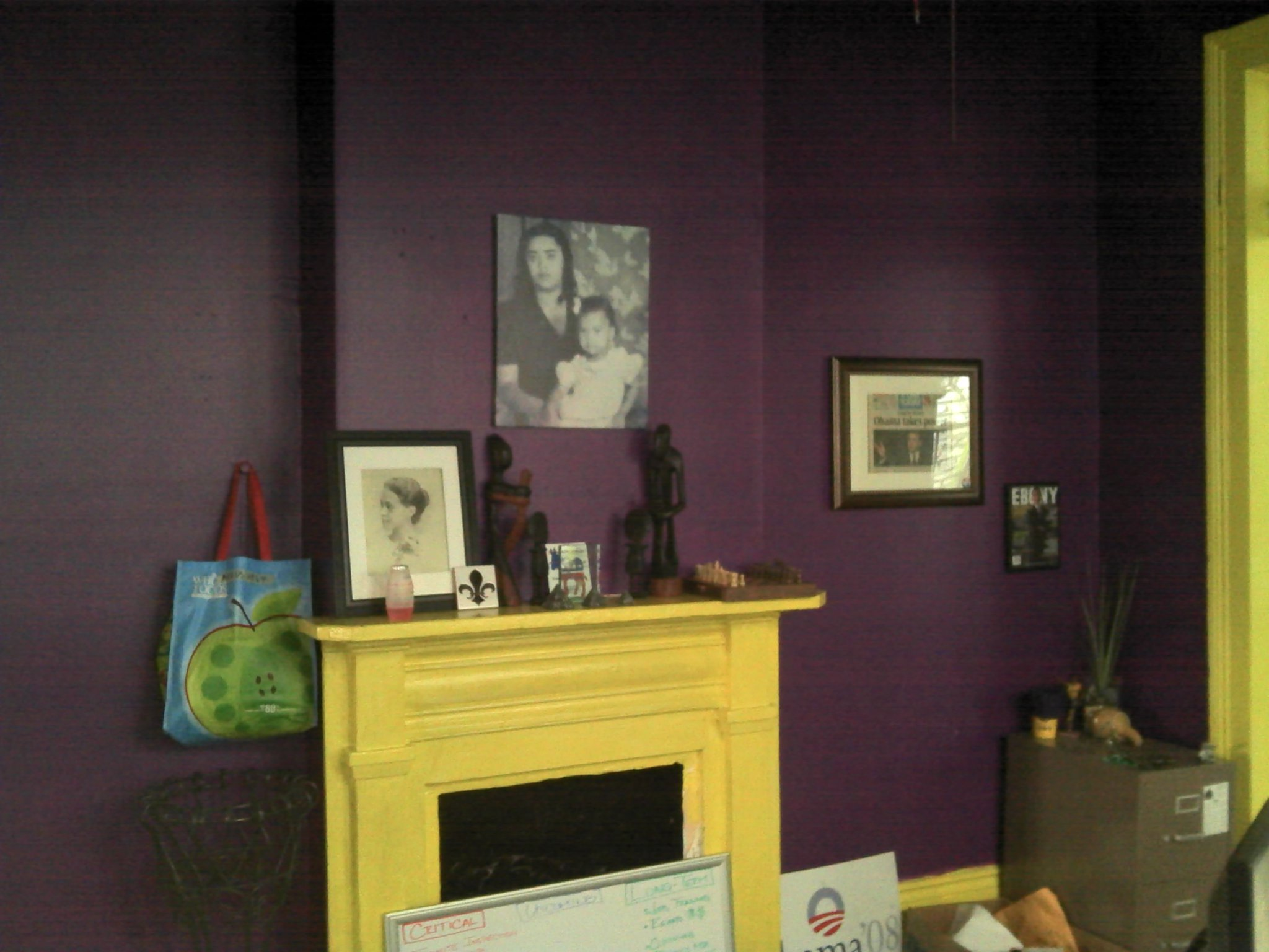 Volunteers gave this living room a New Orleans-style coat of paint.