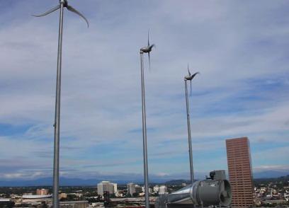 Portland wind turbines.