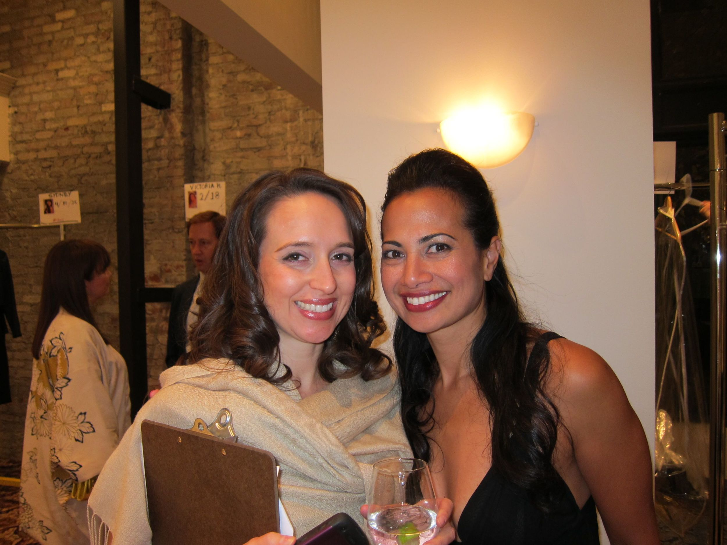 Lily Achatz (right) with Global Green's Nina Storm