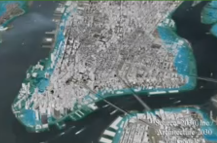 Depiction of sea level rise in NY.