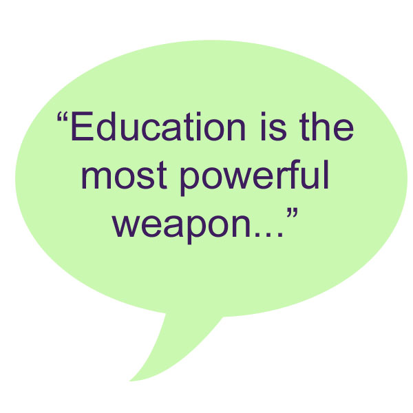 Quote About Education Fascinating Word Up Nelson Mandela Quote On Education Global Green