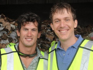 Joe Burke of Action Environmental Group (left) and Matt de la Houssaye of Global Green USA (right).