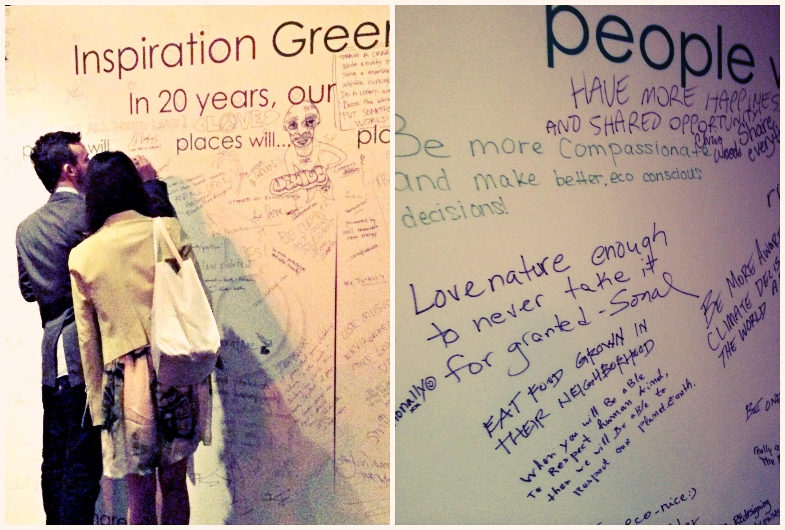 Global Green USA Pre-Oscar Party Inspiration Wall