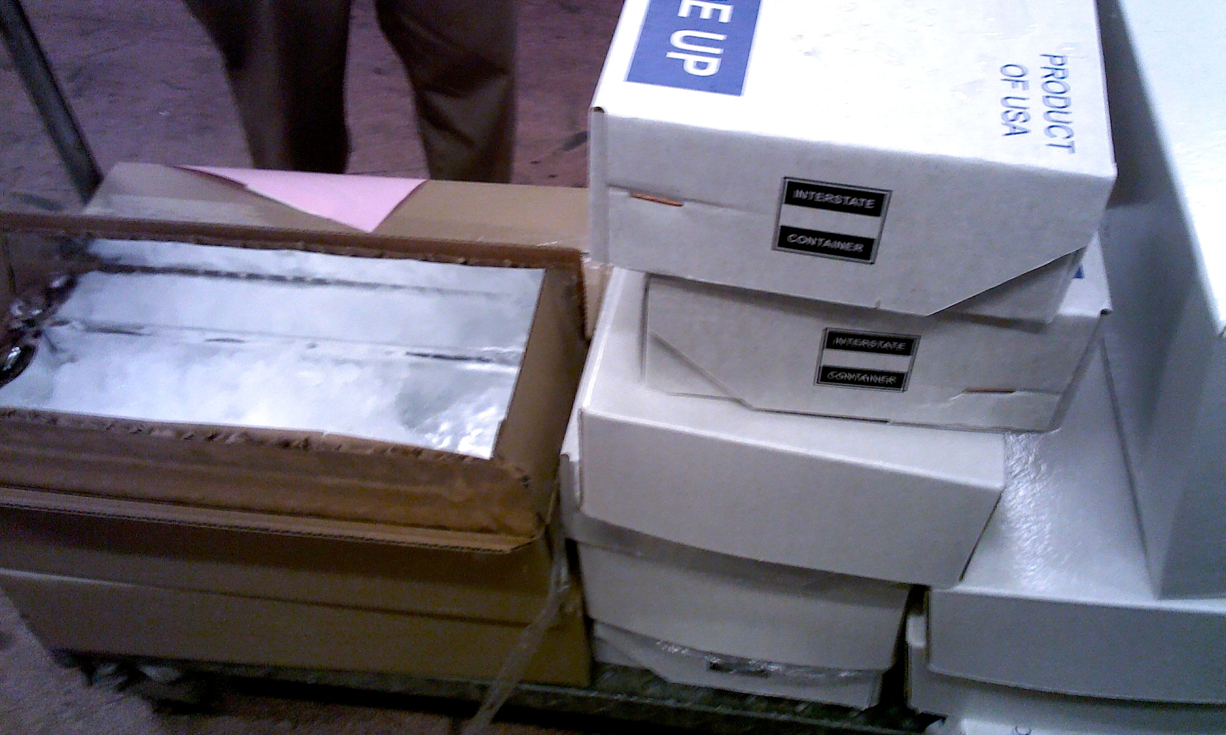 Delivered Boxes - Intact and ice-filled (1)