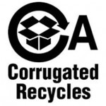 This logo, developed by the Fibre Box Association, indicates that a box is recyclable.
