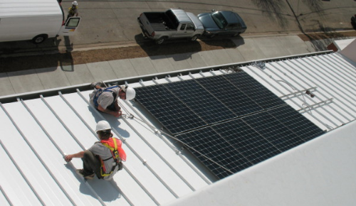 Solar installation on Wilson Elementary School