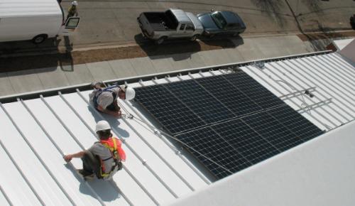 Solar installation on Wilson Elementary School