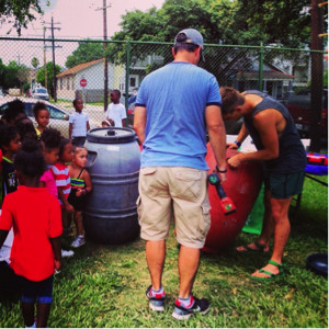 Rain Barrel Build at Stallings Playground, May 2015