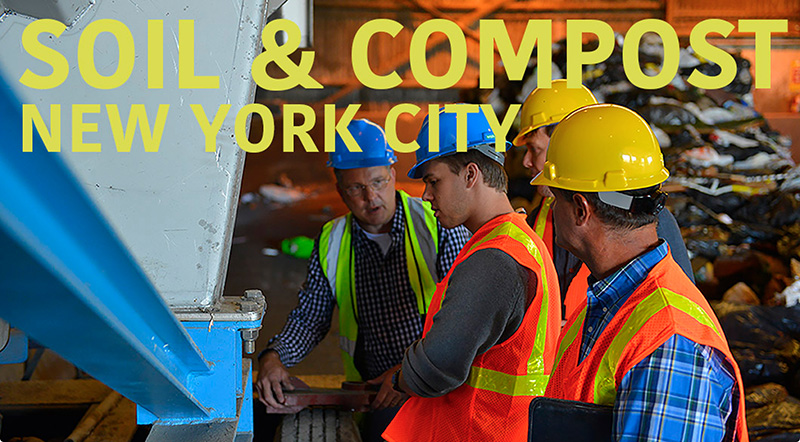 We work with government members and private developers to increase the use of compost as a soil amendment when they undertake large construction projects within 100 miles of NYC. Compost holds water in the soil, reducing irrigation; it increases soil microbial activity, which sequesters carbon; it provides an outlet for organic wastes generated in the Big Apple.