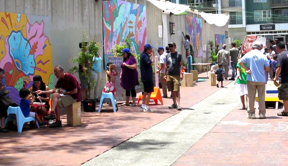 Our Green Urbanism Program staff helped turn a bland brick alleyway in Little Tokyo into a haven for fun and camaraderie.    Watch the video!