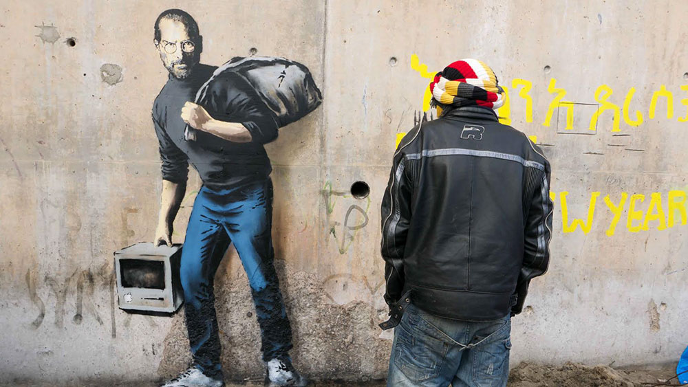 Photo: Via, banksy.co.uk Article: Via, The Verge
