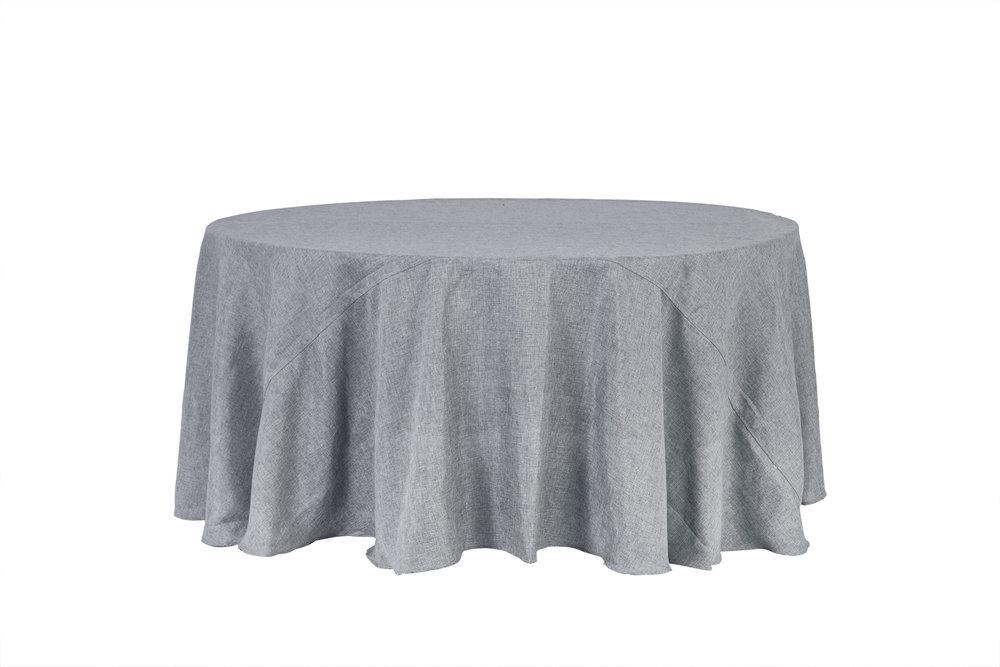mantel lino gris plata