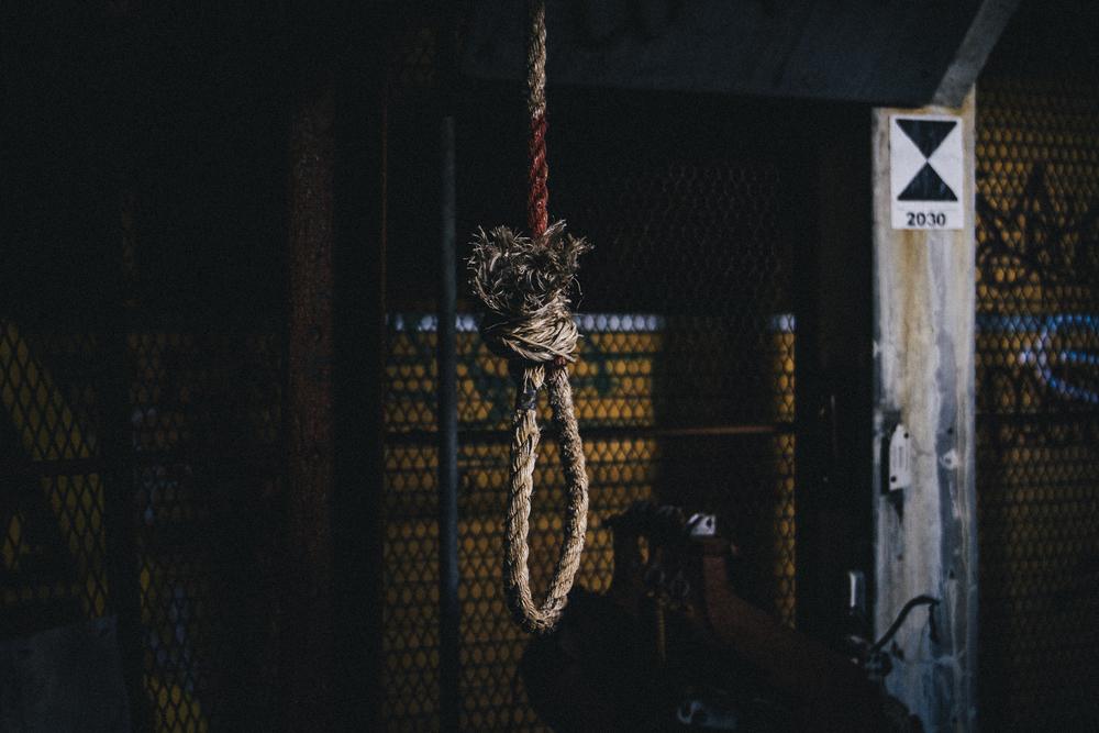 Found hanging in a trashedgraffiti coveredabandoned MTA generator building