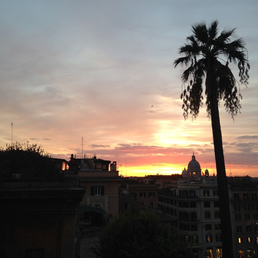 Sunset from the Spanish Steps
