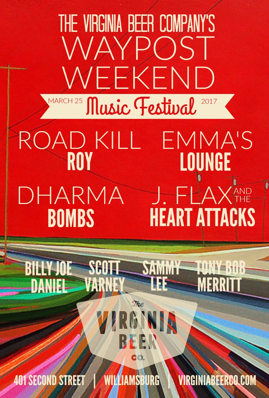 8 musical acts performing on two stages from 2-8 pm!