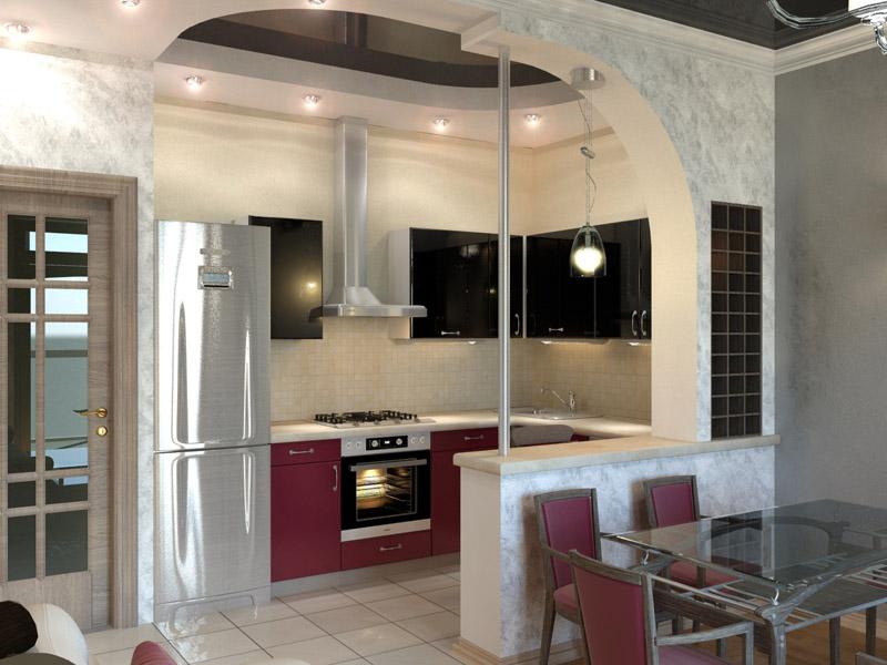Дизайн с проходной кухней
