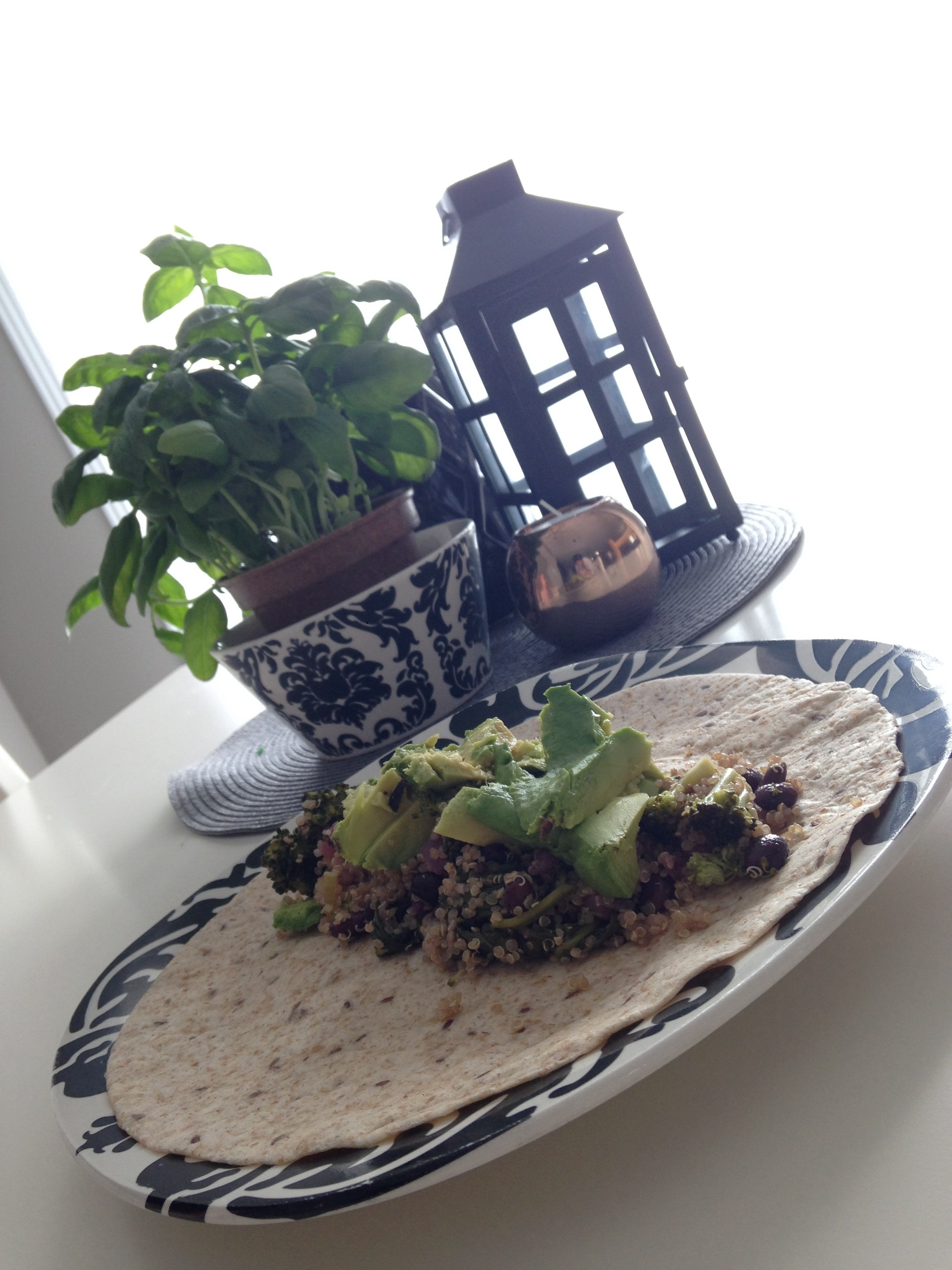 Quinoa, Black Bean & Avocado Wrap