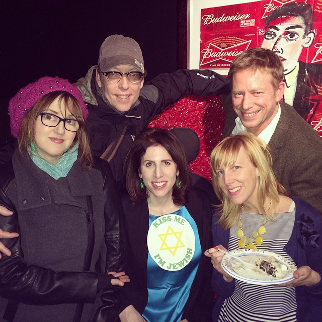 St. Patrick's Day storytellers at last night's @yumsthewordshow - Fiona Walsh, Jim O'Grady, Ed Gavagan, Bridget O'Neill- with Host Robin Gelfenbien #stpatricksday #stpattysday #storytelling #nycstorytelling #irish #irishstories #irishstorytellers #themoth #icecreamcakes #icecream #dessert #desserts