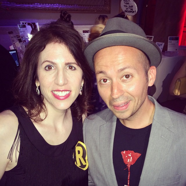 Hanging with the talented and surprised-looking @thedavidcrabb at last night's Moth Ball. :) @mothstories #mothball #mothball2015