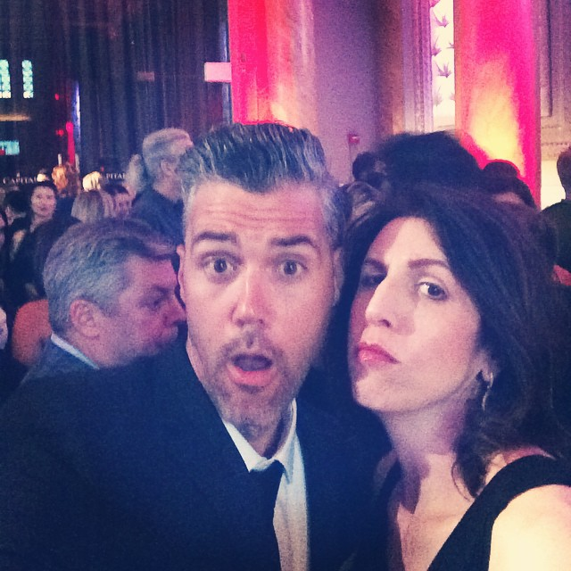 Stirring up trouble with good-looking devil @jackjohnperry at last night's Moth Ball. @mothstories #mothball #mothstories #mothball2015