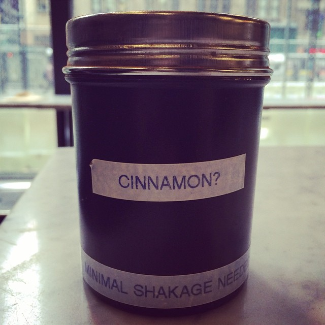Hey @gregs_39th, I think that question mark belongs after the second word on the line below. :) #puttingthesinincinnamon #creativewriting #coffee #nyc #writing #nyccoffee #cinnamon @gregoryscoffee