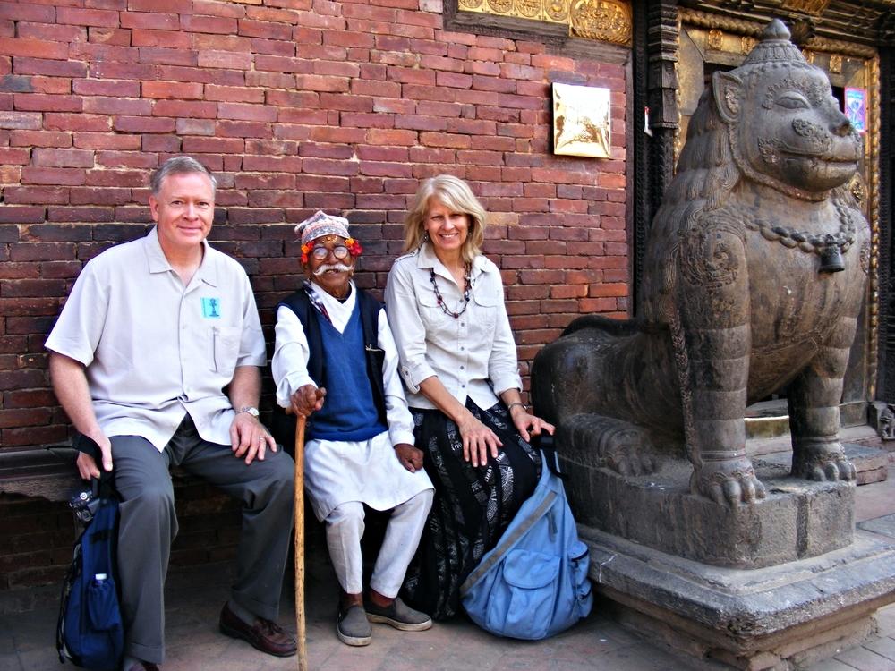 Pastor and Cathy at Patan Durbar, Kathmandu