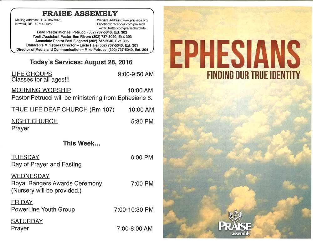 praise assembly announcements for the week of august 28 2016