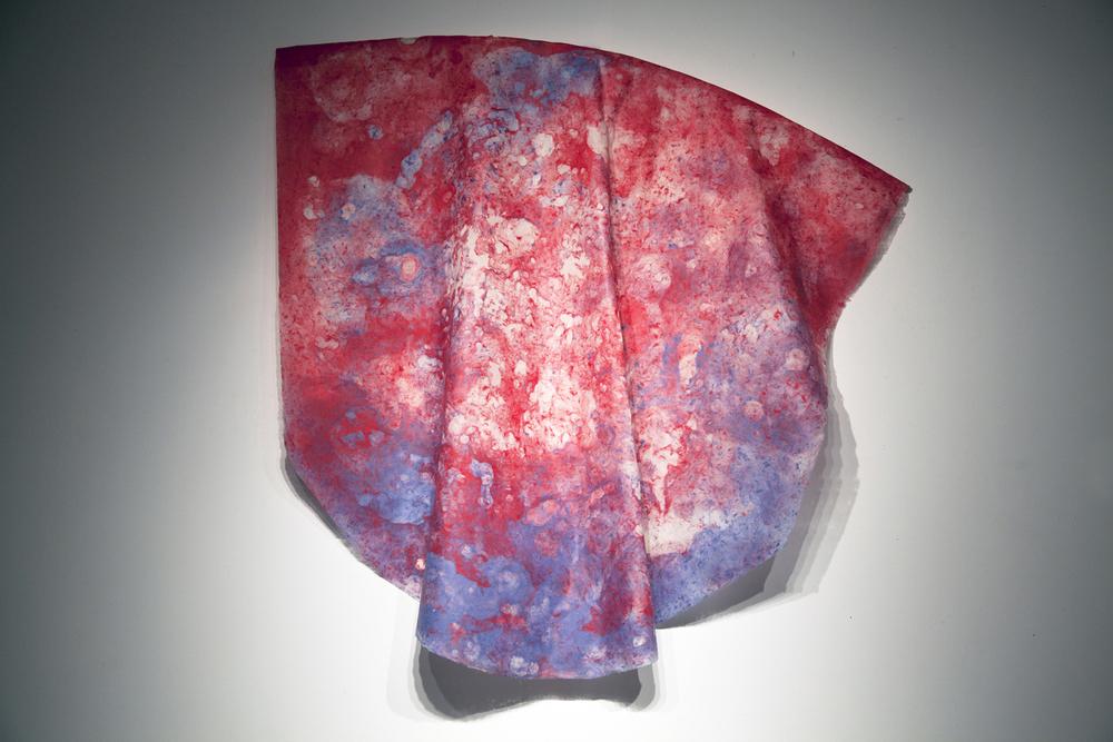 Paradise II, Kozo Fibers, Fiber-reactive Dyes, & Voile, 8 ft x 8 ft, 2013