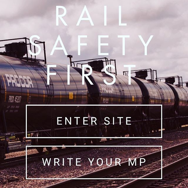 Our new site is up! Link in bio. Find critical information about RAIL SAFETY and download a letter you can send to your MP. It's time for Canadians (and our US neighbours!) to demand change.  Justin Trudeau and Transport Minister Marc Garneau need to make public safety a priority. @justinpjtrudeau @marcgarneau @liberalca