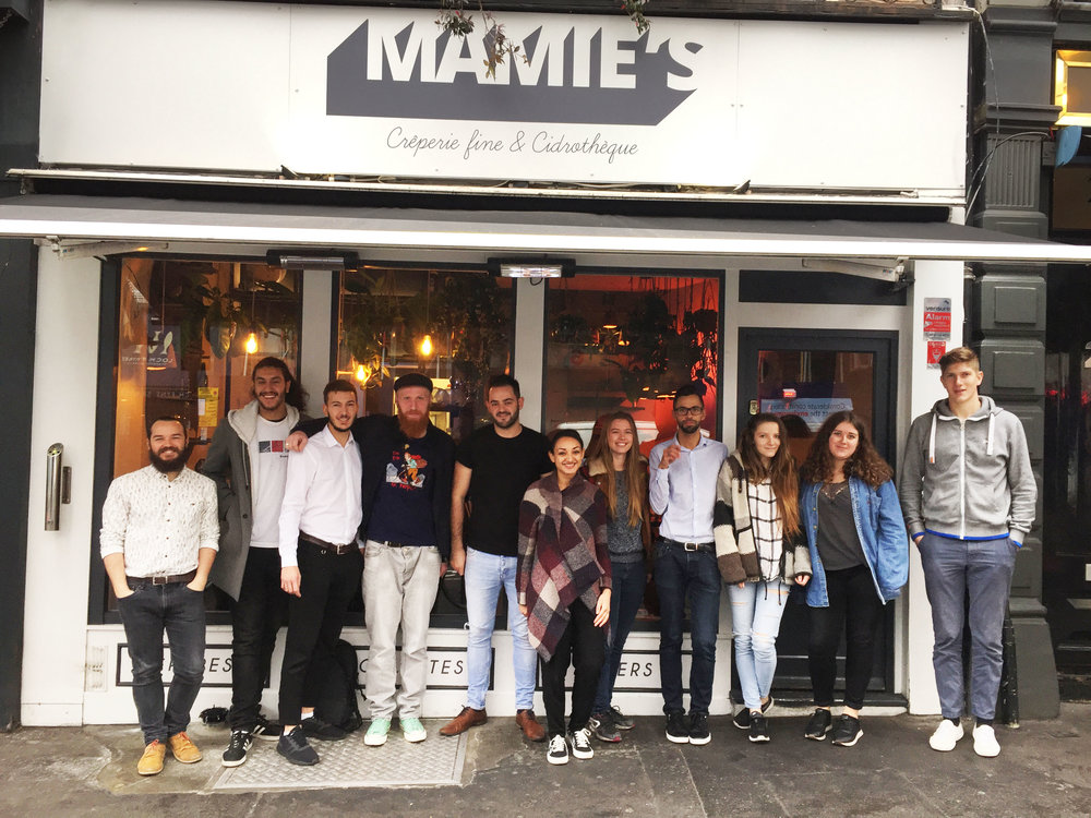 MAMIE'S team contact us creperie londres