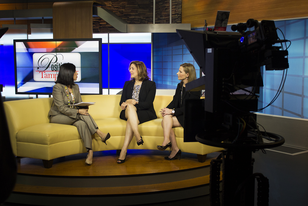 (Left to Right): Lissette Campos, public affairs director and host of  Positively Tampa Bay  at ABC Action News; Arlene DiBenigno, CEO and president of the Women's Conference of Florida; Whitney Jones, interim vice president of marketing at Laser Spine Institute