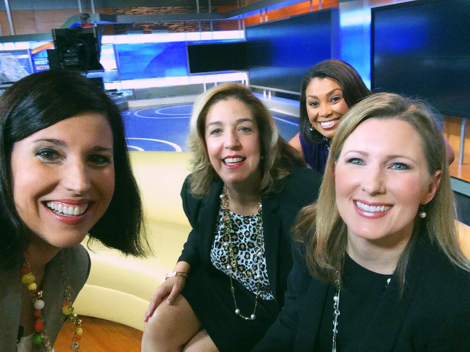 Lissette takes a selfie with Arlene, Whitney, and ABC Action News anchorwoman Deiah Riley!
