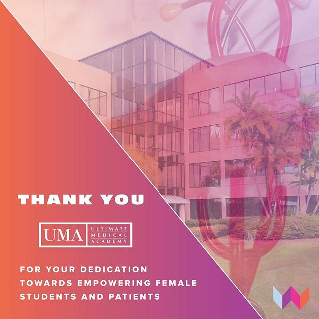 Thank you @ultimatemedicalacademy for your dedication towards empowering female students and patients. 👩⚕️👩🏿⚕️👩🏻⚕️👩🏽⚕️👩🏼⚕️👩🏾⚕️ #SponsorSpotlight