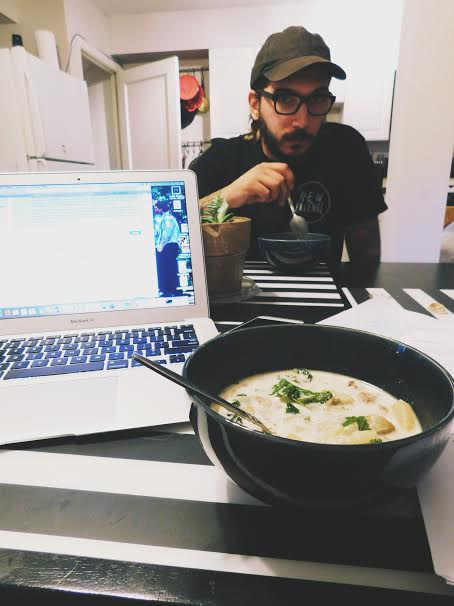 Soup and homework: aka my Fall aesthetic.