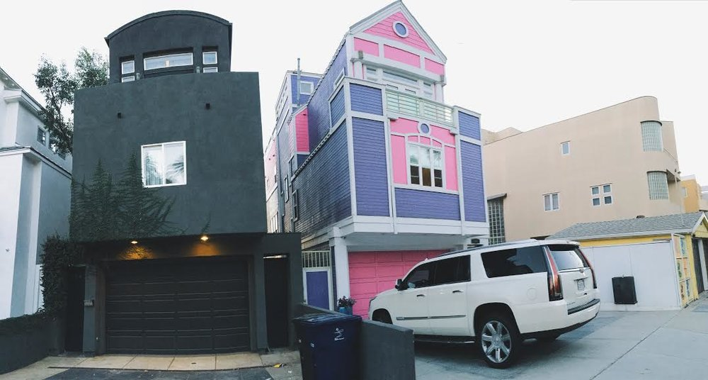 A house fit for a colorful queen on Pacific Coast Highway, next to the house of my dreams.